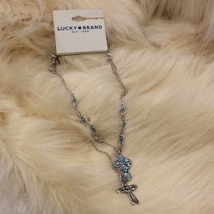 NWT Lucky Brand double cross necklace